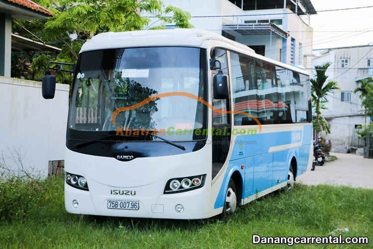 29 seats isuzu samco for rent in danang