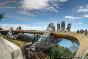 golden bridge on ba na hills da nang vietnam
