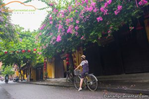 Biking around in the heart of Hoi An ancient town
